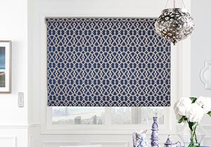 Blue Electric Roller Blind